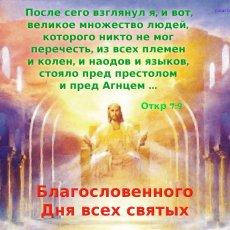После сего взглянул я, и вот, великое множество людей, которого никто не мог перечесть, …, стояло пред престолом и пред Агнцем