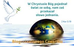 W Chrystusie Bóg pojednał świat ze sobą, nam zaś przekazał słowo jednania.