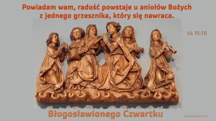 Radość powstaje u aniołów Bożych z jednego grzesznika…