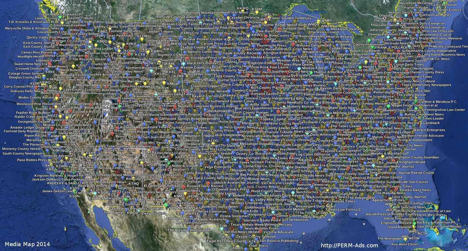 PERM ADS NATIONWIDE MEDIA MAP