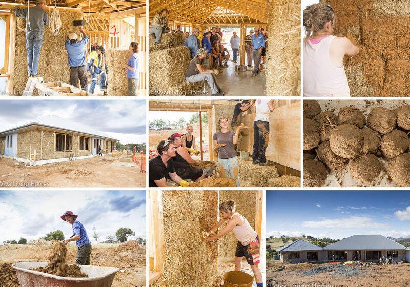 Viva Homes buiding strawbale house