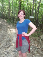 A walk in the Prévinquières woods with my sister, Vicky