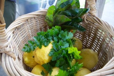 Lemons, parsley, swiss chard