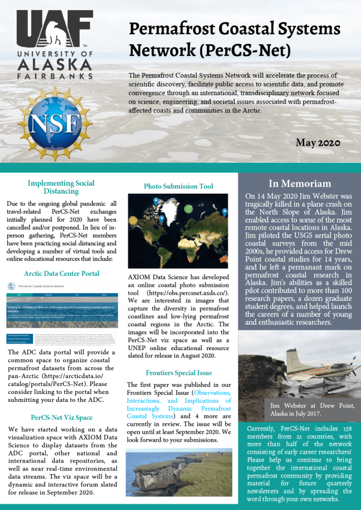 May 2020 - PerCS-Net Newsletter cover