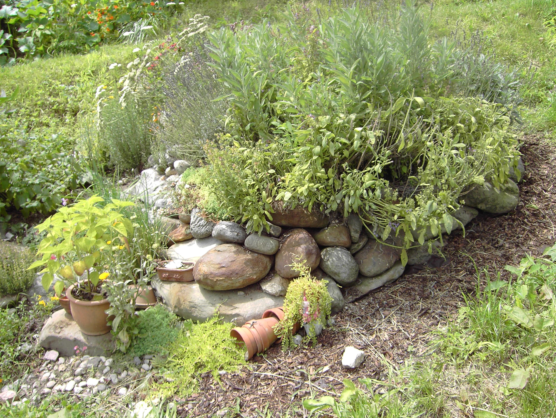 Im Permakultur-Garten von Walter Margesin, Marling / Südtirol