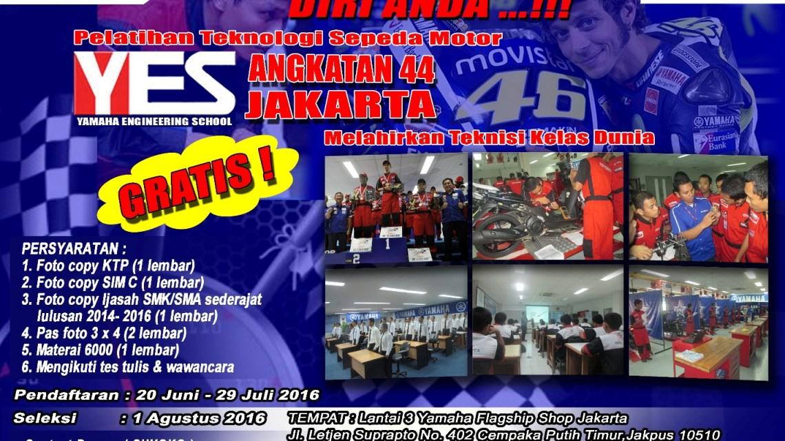 Pelatihan Yamaha Enginering School Segera Dibuka, Biaya Gratis, Buruan Daftar!