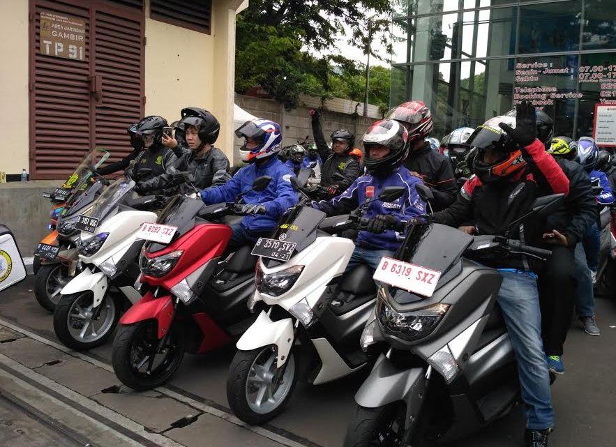 MAXI Yamaha Day: 100 Peserta MAXI Touring Dilepas Oleh Presiden Direktur PT.YIMM