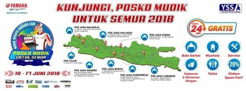 Lokasi Posko Mudik Yamaha 2018