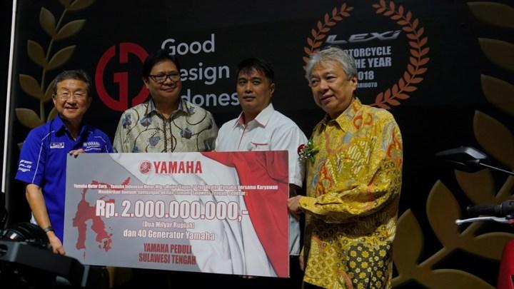 Yamaha Peduli Sulawesi Tengah: Yamaha Gelontorkan Donasi 2 Miliar dan 40 Genset!