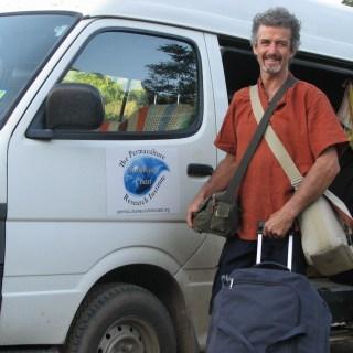 Tom leaving to teach a Permaculture Design Certificate in Vanuatu.