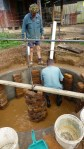 Bricks to support the dome for the biodigester