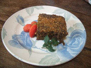 Arrowroot harvested from the permaculture garden put to good use in an Arrowroot cake