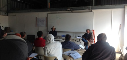 Tom Kendall and Geoff Lawton co teach at the Permaculture Research Institute Australia's July PDC