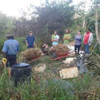 Composting at Maungaraeeda, home of Tom Kendall and the PRI Sunshine Coast
