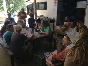 Grade 9 Steiner Waldorf school camp at Permaculture Research Institute Sunshine Coast