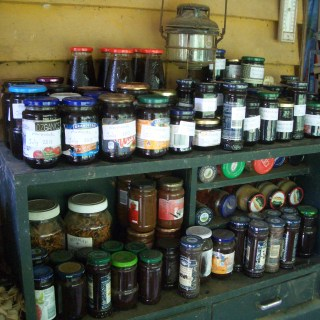 Jars repurposed for preserving