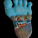 magnete piede dipinto malta