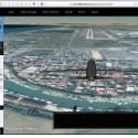 riproduzione della visuale panoramica dall'alto di un aereo