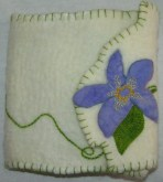 Nuno Felted and Stitched Book Cover