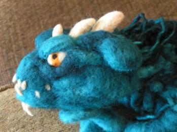 Needle Felted Swamp Dragon