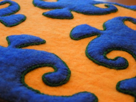 Felt Applique with Couched Edging