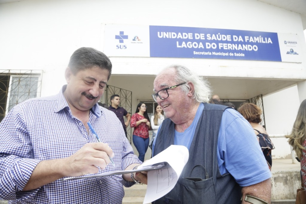 Joaquim Neto assina ordem de serviço para reforma do Posto de Saúde de Lagoa do Fernando
