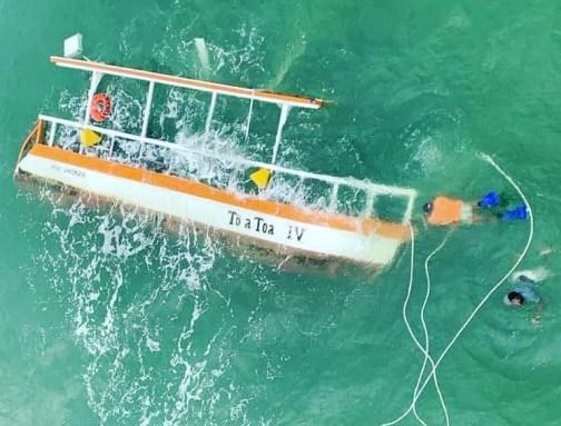 Turistas que estavam em catamarã que afundou em Maragogi não usavam coletes salva-vidas
