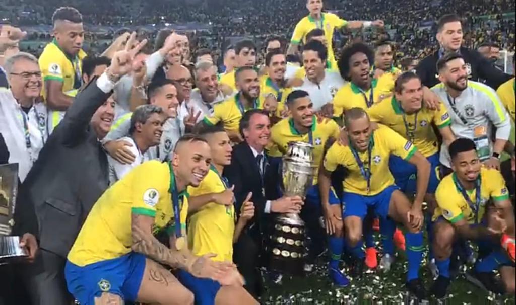 VITÓRIA: Brasil é campeão da Copa América 2019
