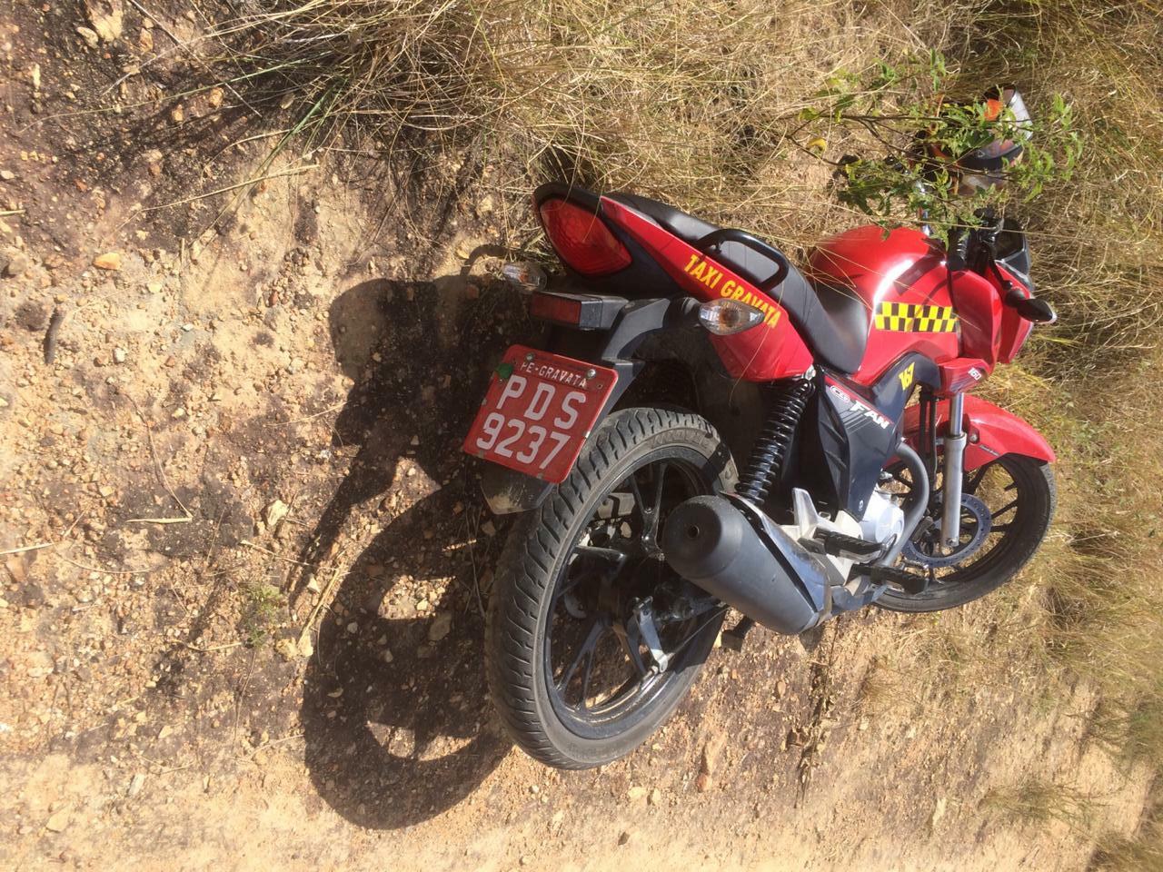 Moto de mototaxista roubada em Gravatá é localizada em Pombos - pernambuconoticias.com.br