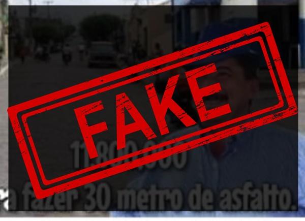 Fake News: prefeito de Gravatá não destinará 11 milhões para asfaltar Amauri de Medeiros