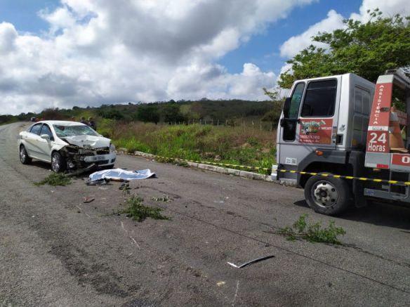 Acidente grave mata motocicleta em Cupira