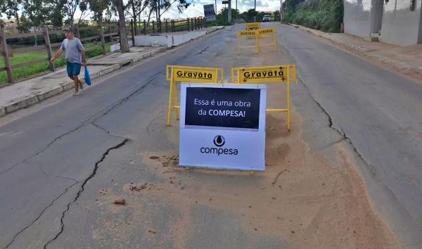 Gravatá: o principal objeto de obra da COMPESA foi destruir perimetral construída com tanto esforço