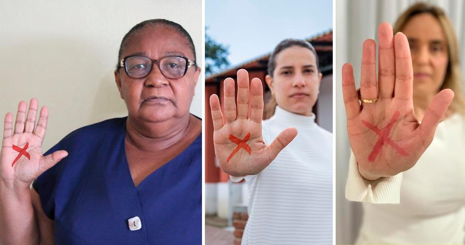 Tucanas aderem à campanha Sinal vermelho contra a violência doméstica