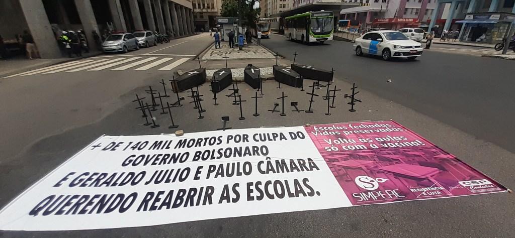 Servidores públicos realizam manifestação em Recife contra Reforma Administrativa