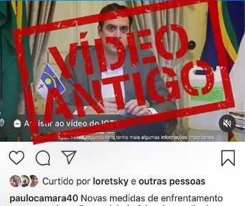 É ANTIGO o vídeo que circula nas redes sociais com o Governador Paulo Câmara falando sobre novas medidas