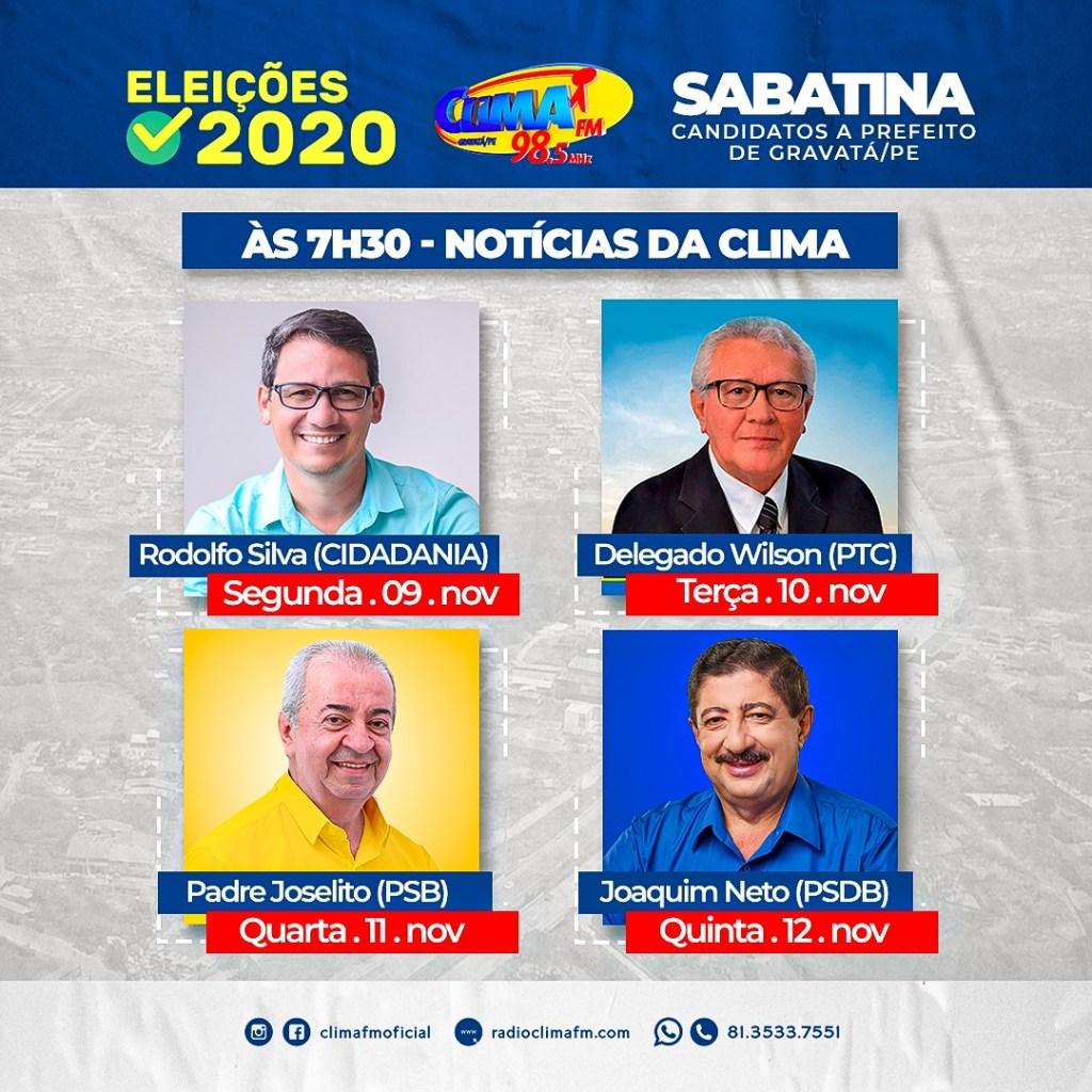 Rodolfo Silva é sabatinado nesta segunda (9) na Clima FM; confira horário