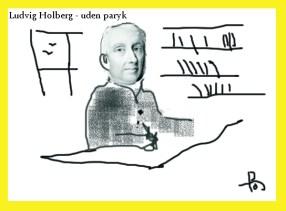 Ludvig Holberg - uden paryk, som set af per-olof johansson