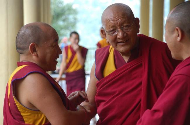 Buddyjscy mnisi w Dharamsali. (Fot. Andrzej Juda)