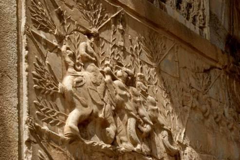 Świetność i chwała Persji - fragment rzeźbień w Taq-e Bostan. (Fot. Tomek Mazur)