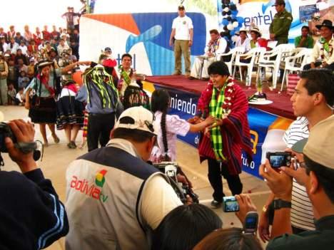 Tańczący Evo Morales. Bo w Torotoro wszystko jest możliwe. (Fot. Łukasz Obuchowicz)