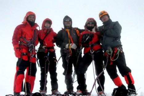 Ekipa w drodze na Mount Blanc (Fot. Wiktor Rozmus)
