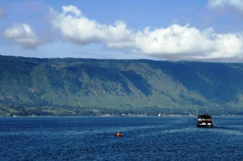 Wyspa Samosir na jeziorze Toba. (Fot. Natlia Mileszyk)