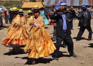 16. Boliwia, Isla del Sol. Tak więc: komu fiesta, ten kręci młyneczki! (Fot. Maja Szymańczak)