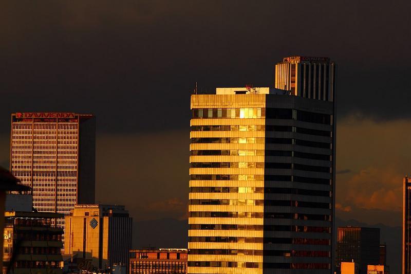 Drapacze chmur w centrum Bogoty