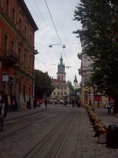 Uliczka w centrum Lwowa