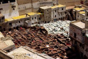 Maroko, Fez. Stara garbarnia
