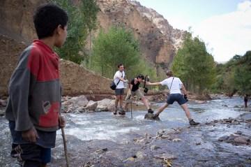 Wędrówka doliną Atlasu w Maroku