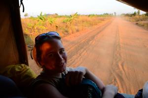 Autostop w Mozambiku.