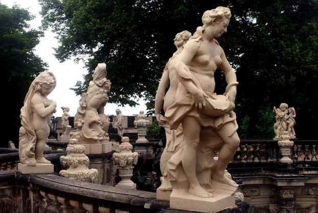 Barokowe rzeźby w Dreznie
