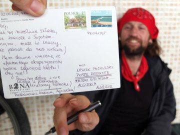 Algieria, pocztówka z Polski